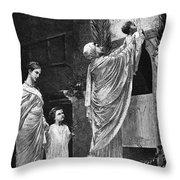 Rome: Christian Widow Throw Pillow by Granger