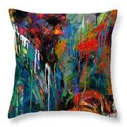 Round Midnight Throw Pillow by Debra Hurd