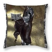Saint Luke Throw Pillow by Granger