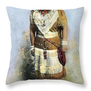 Sarah Winnemucca Throw Pillow by Granger
