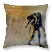 Savior In A Storm Throw Pillow by Todd Krasovetz