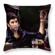 Scarface Throw Pillow by Ylli Haruni