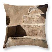 Shadows Of Tumacacori Throw Pillow by Sandra Bronstein
