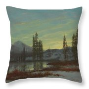 Snow In The Rockies Throw Pillow by Albert Bierstadt