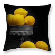 Still Life With Lemons Throw Pillow by Tom Mc Nemar