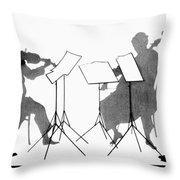 String Quartet, C1935 Throw Pillow by Granger