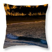 Sunset At The Beach Throw Pillow by Sebastian Musial