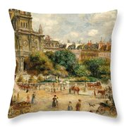 The Banks Of The Seine At Bougival Throw Pillow by Pierre Auguste Renoir