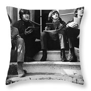 The Beatles, 1965 Throw Pillow by Granger