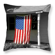 The Colors of Freedom Throw Pillow by Linda Galok