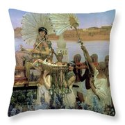The Finding Of Moses Throw Pillow by Sir Lawrence Alma Tadema