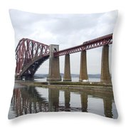 The Forth - Scotland Throw Pillow by Mike McGlothlen