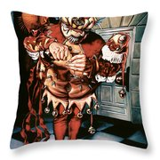 The Jesterook Throw Pillow by Patrick Anthony Pierson