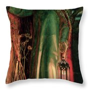 The Light Of The World Throw Pillow by William Holman Hunt