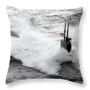The Los Angeles-class Fast Attack Throw Pillow by Stocktrek Images