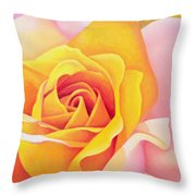 The Rose Throw Pillow by Myung-Bo Sim
