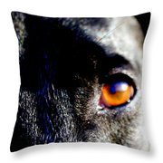 The Saint Throw Pillow by Jennifer  Diaz