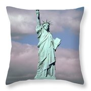 The Statue Of Liberty Throw Pillow by American School
