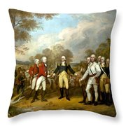 The Surrender Of General Burgoyne Throw Pillow by War Is Hell Store