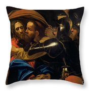 The Taking Of Christ Throw Pillow by Michelangelo Caravaggio