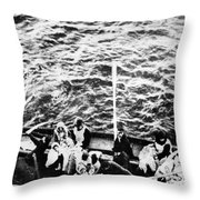 Titanic: Lifeboats, 1912 Throw Pillow by Granger