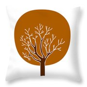 Tree Throw Pillow by Frank Tschakert