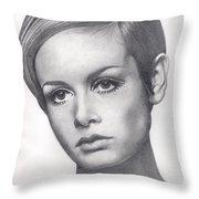 Twiggy Throw Pillow by Karen  Townsend