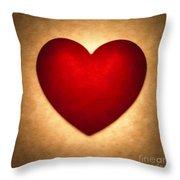 Valentine Heart Throw Pillow by Tony Cordoza