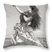 Wahine Hula Throw Pillow by Himani - Printscapes
