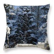 Winter Throw Pillow by Igor Sinitsyn