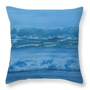 Women In The Surf Throw Pillow by Jenny Armitage