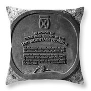 10th Mountain Division Throw Pillow by David Lee Thompson