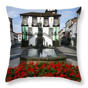 Ponta Delgada - Azores Throw Pillow by Gaspar Avila