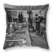 1860's Ore Assay Office Shop - Montana Throw Pillow by Daniel Hagerman