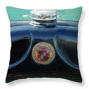 1925 Cadillac Hood Ornament And Emblem Throw Pillow by Jill Reger