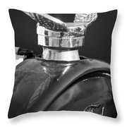 1925 Ford Model T Hood Ornament 2 Throw Pillow by Jill Reger