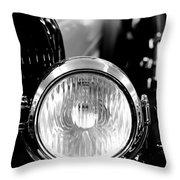 1925 Lincoln Town Car Headlight Throw Pillow by Sebastian Musial