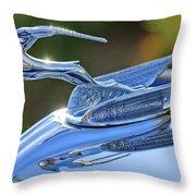 1933 Chrysler Imperial Hood Ornament 2 Throw Pillow by Jill Reger