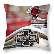 1936 American LaFrance Fire Truck Hood Ornament Throw Pillow by Jill Reger