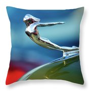1936 Cadillac Hood Ornament 2 Throw Pillow by Jill Reger