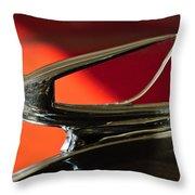 1939 Chevrolet Hood Ornament 2 Throw Pillow by Jill Reger