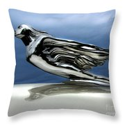 1941 Cadillac Emblem Abstract Throw Pillow by Peter Piatt
