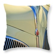 1941 Lincoln Continental Cabriolet V12 Grille Throw Pillow by Jill Reger