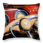 1941 Lincoln Continental Cabriolet V12 Steering Wheel Throw Pillow by Jill Reger