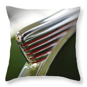 1941 Nash Ambassador 600 Hood Ornament Throw Pillow by Jill Reger