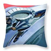 1950 Dodge Coronet Hood Ornament Throw Pillow by Jill Reger