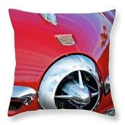 1950 Studebaker Champion Hood Ornament Throw Pillow by Jill Reger