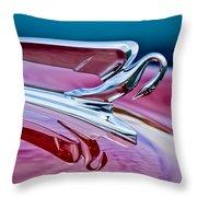 1952 Packard 400 Hood Ornament Throw Pillow by Jill Reger