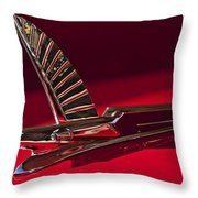 1954 Ford Cresline Sunliner Hood Ornament Throw Pillow by Jill Reger