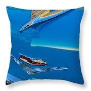 1956 Chevrolet Hood Ornament 4 Throw Pillow by Jill Reger